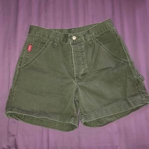 lei army green vintage high rise shorts